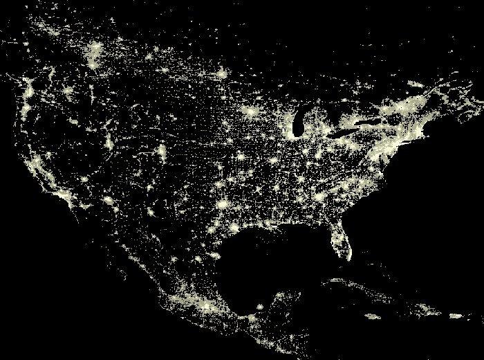 Planisfero Notturno Illuminato.Luci Nella Notte